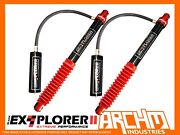 Rear 2 50mm Remote Res Shock Absorbers For Toyota Landcruiser 80 / 105 Series