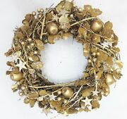 Christmas Door Wreath Large 35cm Gold Apple Berry Wreath 9815 Fast And Free