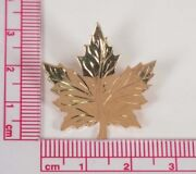14k Yellow Gold Maple Leaf Brooch/pin