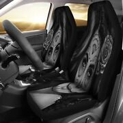Calavera Girl Design Car Seat Covers - Universal Fit For Most Cars And Suv