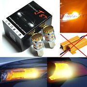 Hyper Flash Free Led Light 1156 Amber Two Bulbs Rear Turn Signal Replace Stock