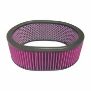 Racing Power Company R2126 12in X 4in Oval Washable Air Filter Element