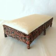 Dollhouse Bed Miniature Wicker 16 Scale Couch Furniture For Mh Blythe Barbie