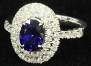 Sapphire Diamond Ring Vintage Estate Fine Jewelry Holiday Gift Christmas Newyear