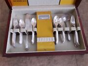 1847 Rogers Bros silverplate Is Flair 1950 Silverware Flatware And Wooden Case