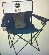 Logo Brands 190-12e-1 Notre Dame Navy And White Elite Chair