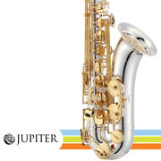 Jupiter Jts1100sg Silver Plated Body Key Of Bb Tenor Saxophone W/ Backpack Case