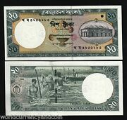 Bangladesh 20 Taka P40 2002 Or 2004 Unc Boat Tiger Unc Asia Money One Bank Note