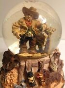 Water Globe 1997 Antique Cowboy Been There Done That Bowlegged Dome Vintage Rare