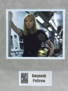 Iron Man Photo Signed By Gwyneth Paltrow Pepper Potts Coa, Matted W/name Plate