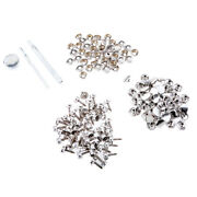 153pcs Boat Marine Canvas Cover Snap Fasteners 15mm Screw Stud Button Socket
