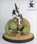Gentle Giant Star Wars Animated Sandtrooper On Dewback New Sealed Very Rare 23