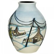 Moorcroft Pottery Home For Christmas Vase 3/5 Numbered Edition