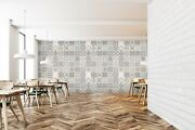 3d Popular Grey Floral 13 Texture Tiles Marble Wall Paper Decal Wallpaper Mural