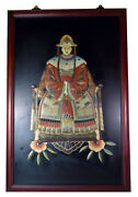 42 Vintage Chinese 3d Relief Ornate Traditional Dress Ancestor Woman