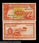 South West Africa 1 Pound P8 16-9-1955 Rare Currency Paper Money Standard Bank