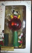 Disney Store Mickey And Minnie Mouse Light Up Ornament Christmas Tree Topper 2017