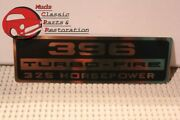 Chevy 396 Turbo-fire 325 Hp Valve Cover Decal Gold And Black