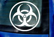 Biohazard Warning Sign Zombies Walking Dead Funny Car Wall Art Stickers Decals