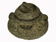Antique Islamic Soapstone Heavy Tool Gray Stone Bowl Vessel Carved Afghanistan B