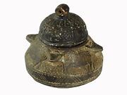 Antique Islamic Soapstone Heavy Tool Gray Stone Bowl Vessel Carved Afghanistan C