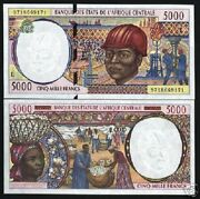 Central African State Gabon 5000 Francs P404l 1997 Ship Unc Currency Money Bill