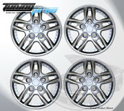 Silver 14 Inches 515 Pop On Hubcap Wheel Rim Skin Covers 14 Inch 4pcs