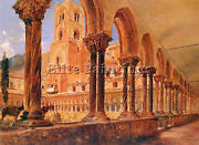 Alt Rudolf Von A View Of Monreale Above Palermo Artist Painting Reproduction Oil