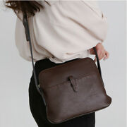 Vintage Casual Daily Small Stitch Shoulder Cross Bag Purse Real Cowhide Leather