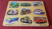 Wood Sound Puzzle 267 8 Realistic Vehicle Sounds Melissa And And Doug