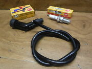 Honda Atc 125 Atc125m M New Spark Plug , Cap Boot Cover And Coil Wire Tune Up Kit