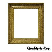 19th Century Gold Gilt And Gesso Wood Frame Wall Mirror With Foliate Design A
