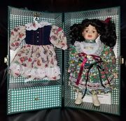 New Lasting Impressions Companion Collection Porcelain Doll W/box And Extra Dress