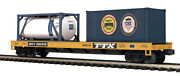 Mth Premier O Trains 802920 Csx Flat Car W' 20' Container And A Tank 20-95293