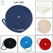 3/8and039and039 35ft Double Braid Nylon Dock Line Mooring Rope 6 Colors Alternative - Esa