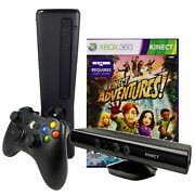 Refurbished Xbox 360 Slim 4gb Console With Kinect Sensor And Kinect Adventures