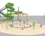 30and039 Commercial Water Slide And 3000 Sqft Splash Pad Water Park We Finance
