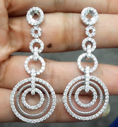 Deal 2.25 Ct Natural Round Diamond Hanging Chandeliers Earrings 14k Rose Gold