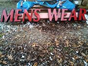 Men's Wear 10 Foot Lighted Sign Each Letter Is 12 Inch By 18 Inch Used Sign Nice
