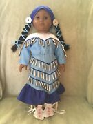 American Girl Kaya Blue Jingle Dress Outfit Set Retired Doll Not Included