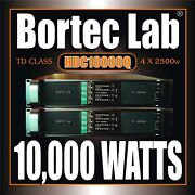 New Hdc10000q Holiday Special 4/ch Hi-density Power Amplifier By Bortec Lab