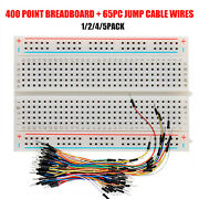 400 Tie Points Solderless Mini Breadboard + 65pcs Jumper Cable Wires Arduino New