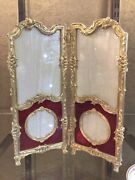 Antique And Original Picture Frame In Enamel And Gilded Bronze Solid French.