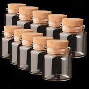 1/10pcs 50ml Clear Glass Bottles Small Empty With Cork Lid Transparent Vial