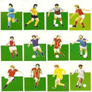 Sigma Sport Silhouettes 1979/80 Football Action Portrait Single Cards - Various