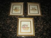 Sandy Lynam Clough 3 Signed, Matted And Framed Tea Cup Art Prints 8x9