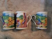 Lot Of 3 Winnie The Pooh Disney Houston Harvest Gift Products Coffee Cups Mugs