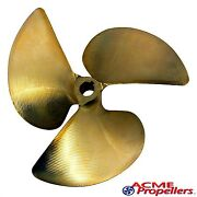 Acme 13 X 12 Inboard Propeller Left Hand Nibral Cupped 1 1/8 Bore 3 Blade 515