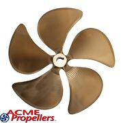 Acme 14.5 X 13.5 Inboard Propeller Left Hand Nibral Cupped Splined Bore 5 Blade