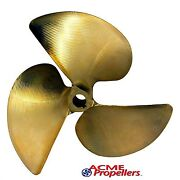 Acme 13 X 11.5 Inboard Propeller Right Hand Nibral 1 Bore 3 Blade Cupped 1608